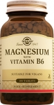 Solgar Magnesium with Vitamin B6 Tablet