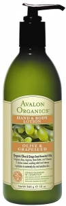 Avalon Organics Olive & Grape Seed El & Vücut Losyonu