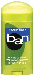 Ban Powder Fresh Invisible Solid Antiperspirant Deodorant
