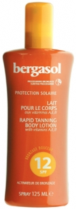 Bergasol Rapid Tanning Body Lotion SPF12