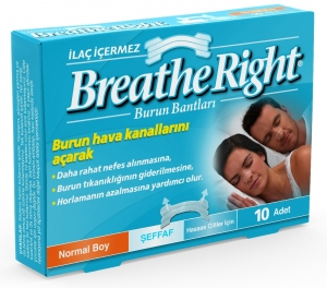 Breathe Right Şeffaf Burun Bandı