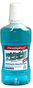 Dentiplus Whitening & Anti Tartar Antiseptic Mouthwash