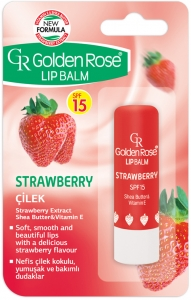 Golden Rose Lip Balm Strawberry SPF 15