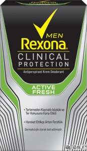 Rexona Clinical Protection Erkek Antiperspirant Active Fresh Krem Deodorant