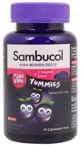 Sambucol Plus Kids Yummies Çiğneme Tableti
