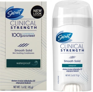 Secret Clinical Strength Smooth Solid Waterproof Antiperspirant Deodorant