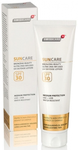 SwissCare Suncare Bronzing Beauty Defense Lotion SPF 30