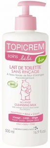 Topicrem Baby No Rinse Cleansing Milk